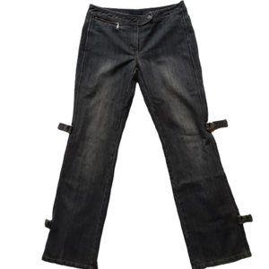 The Limited Black Stonewash Buckle Jeans- Sz. 6